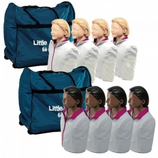 Laerdal Little Anne QCPR 4-pack  Blank of Donker